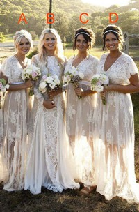 Long Sleeve Modest Jewel Neck Lace Bridal Gown With Ruching And Pleats