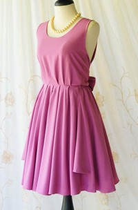 A Line Backless Dress With Low-V Back