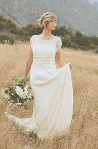 Belle Crinkle Low Back Wedding In Dark Ivory Size 10 Dress