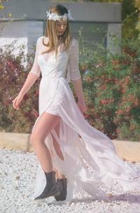 Chiffon Lace Embroidered Wedding Dress