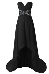 Ruched Bust High-low Dress With Crystal Embellishments