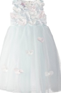 Sleeveless A-line Dress With Hearts and Bow