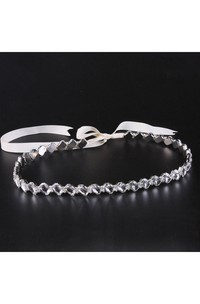 Simple Crystal Tied Belt