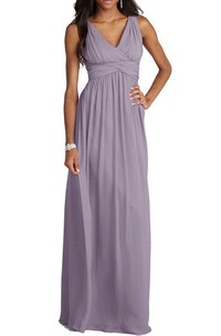 V-neck Empire Chiffon Long Dress