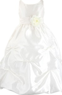 Sleeveless A-line Dress With Ruffles and Flower