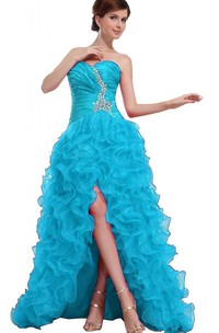 Sweetheart A-line High-low Gown With Ruffles