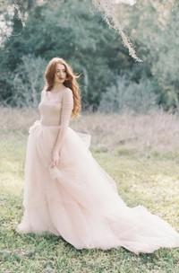 Nude Tulle Wedding Skirt Peony Weddig Dress