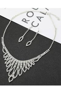 Fabulous Bridal and Gala Rhinestone Necklace and Earrings Jewelry Set