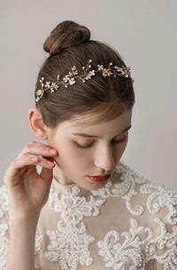 Forest Style Golden Rhinestone Hairbands