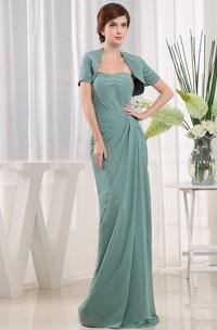Elegant Strapless Floor-Length Dress With Side Draping