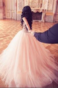 Stunning Crystal Princess Tulle Evening Dresses 2018 Floor Length Sweet 16 Quinceanera Dress