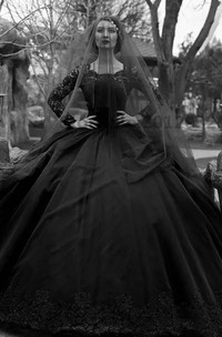 Ball Gown Bateau Lace Tulle Floor-length Sweep Train Long Sleeve Wedding Dress with Illusion Back
