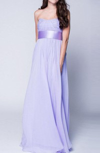 New 2018 Lavender Maxi Chiffon Bustier Beautiful Floor Length Prom Formal Wedding Dress