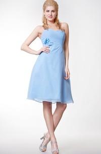 Sexy Sweetheart Floral Chiffon Short Dress Crisscross With Bodice